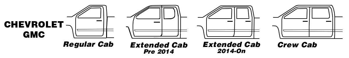 Chevy GMC Cab Types