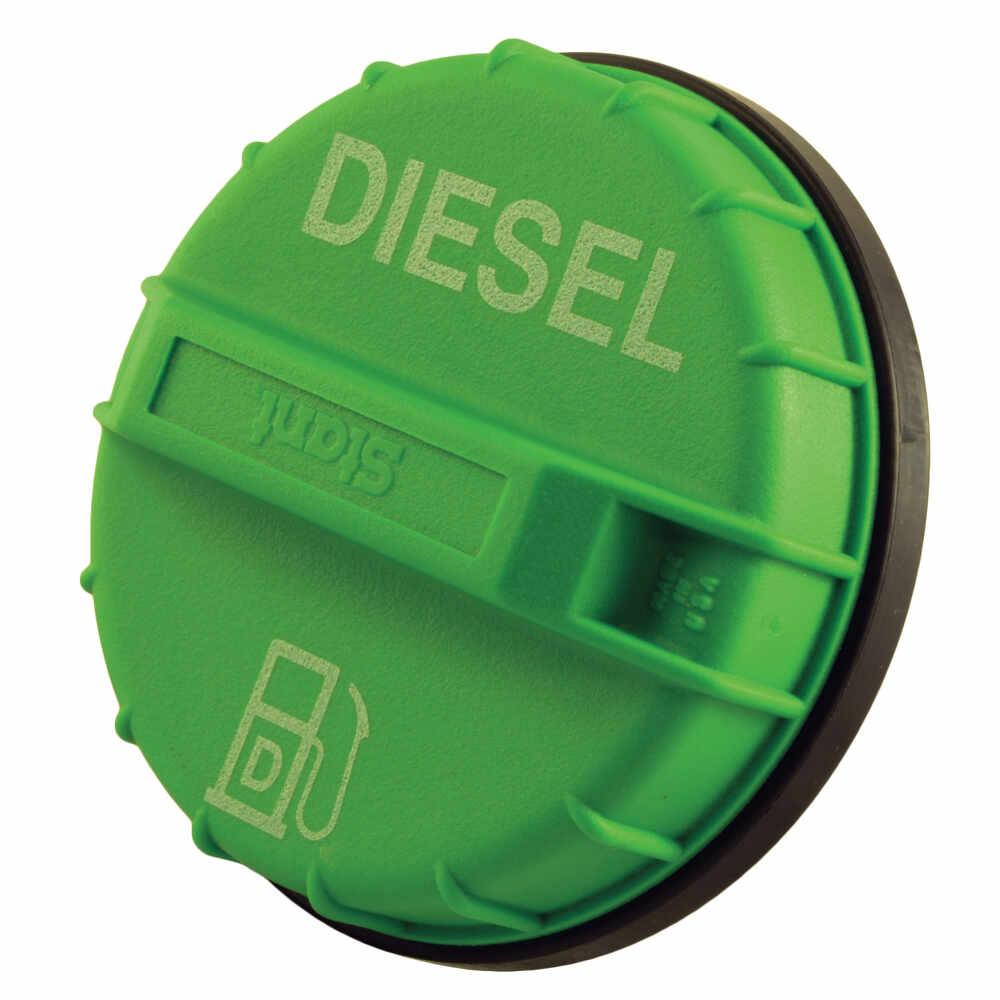 """1-3/4"""" x 6"""" Diesel Fuel Filler Neck with Green Cap"""