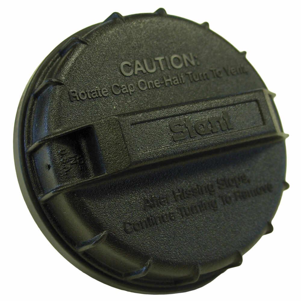 "1-3/4"" x 6"" Unleaded Fuel Filler Neck with Black Cap"