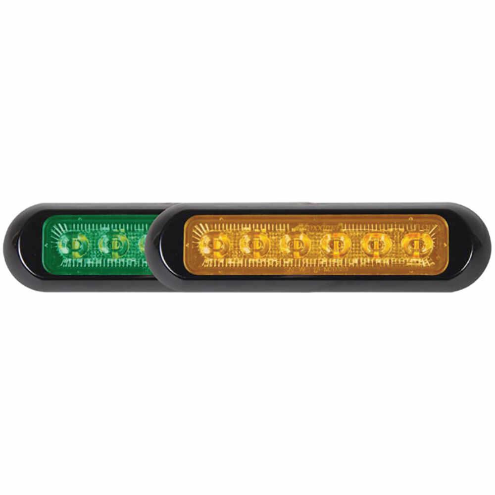 12 LED Green Amber Low Profile Mini Strobe