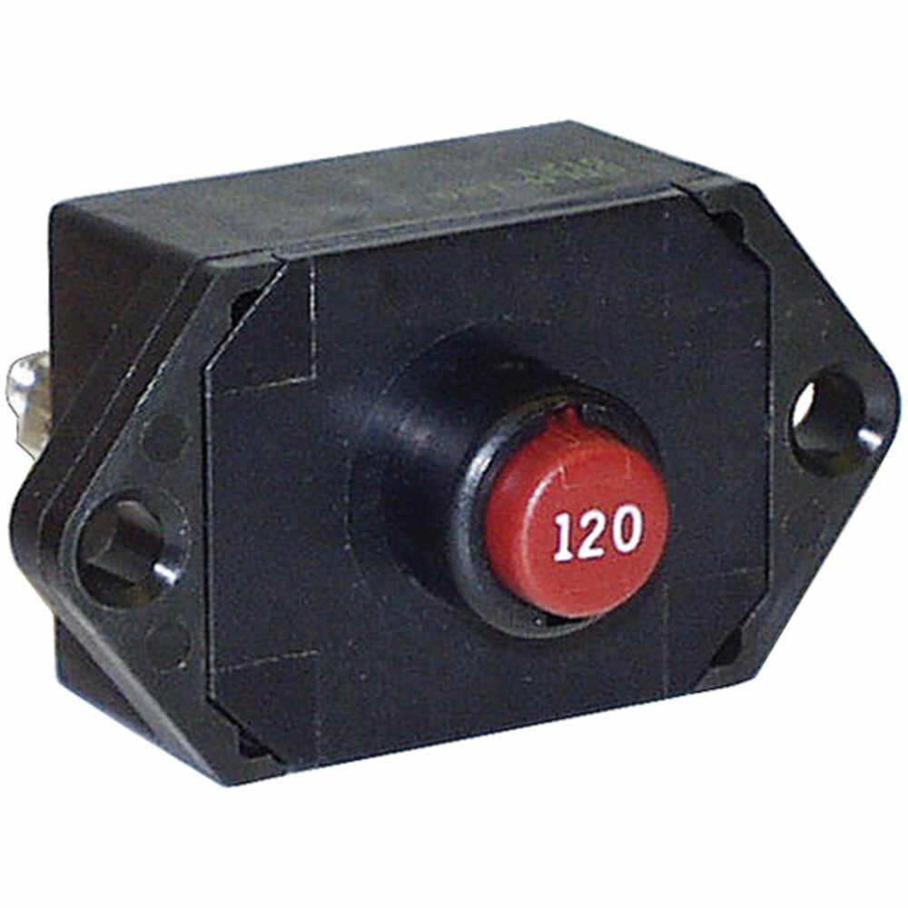 120 Amp Circuit Breaker with Manual Reset - Panel Mount