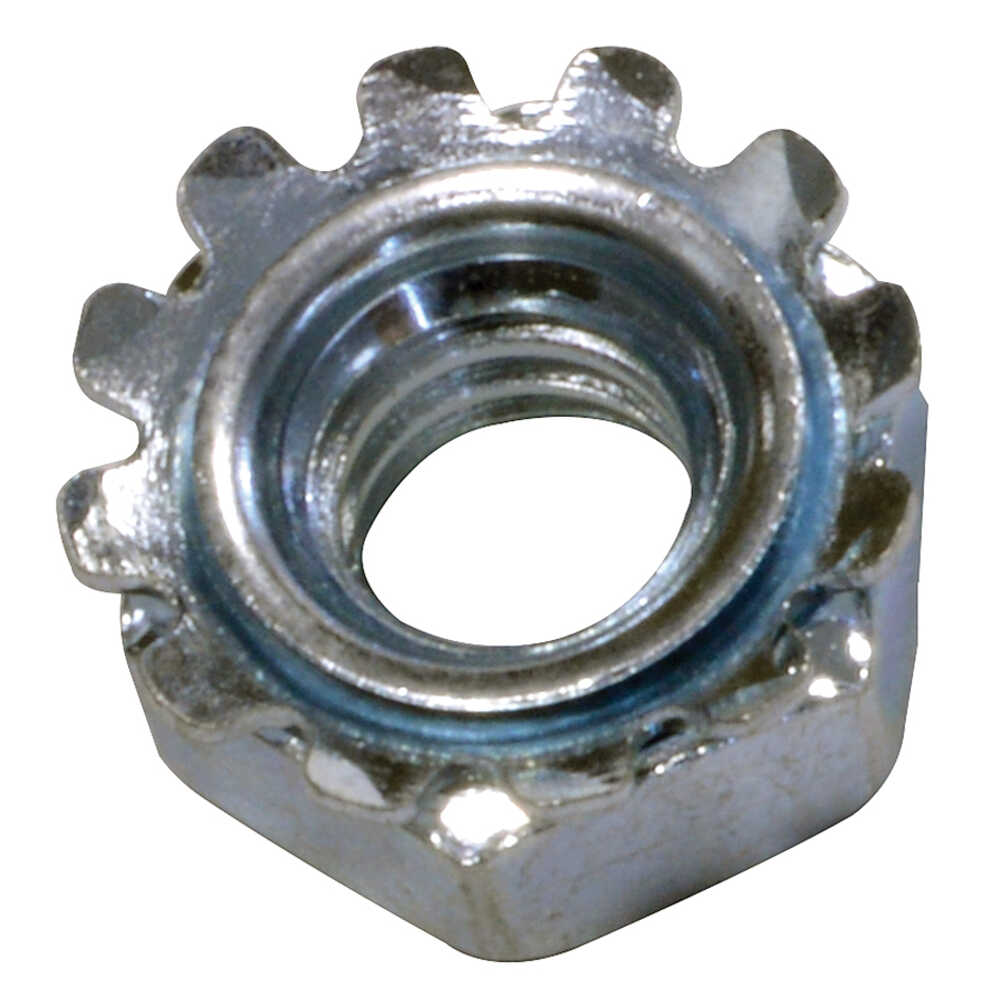 """1/4""""-20 Kep Nut with Lock Washer - 100 Pcs"""