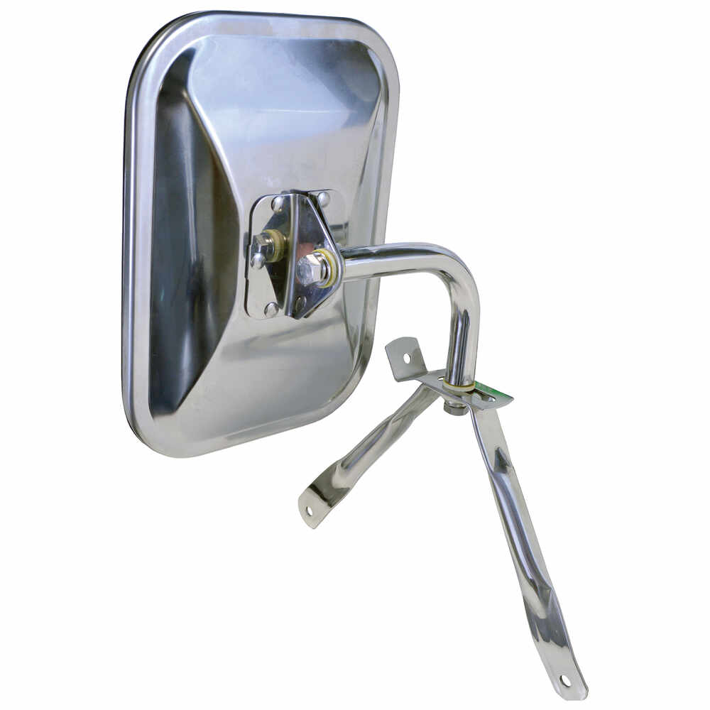 1971-2003 Dodge Van Universal Below Eye Level Mirror Assembly, Stainless Steel