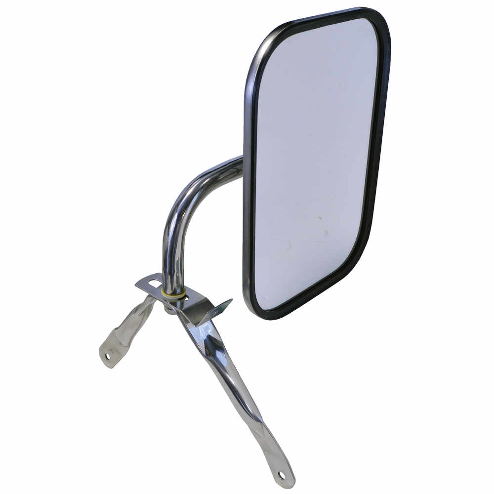 1975-1986 Ford F150 Pickup Truck Universal Below Eye Level Mirror Assembly, Stainless Steel