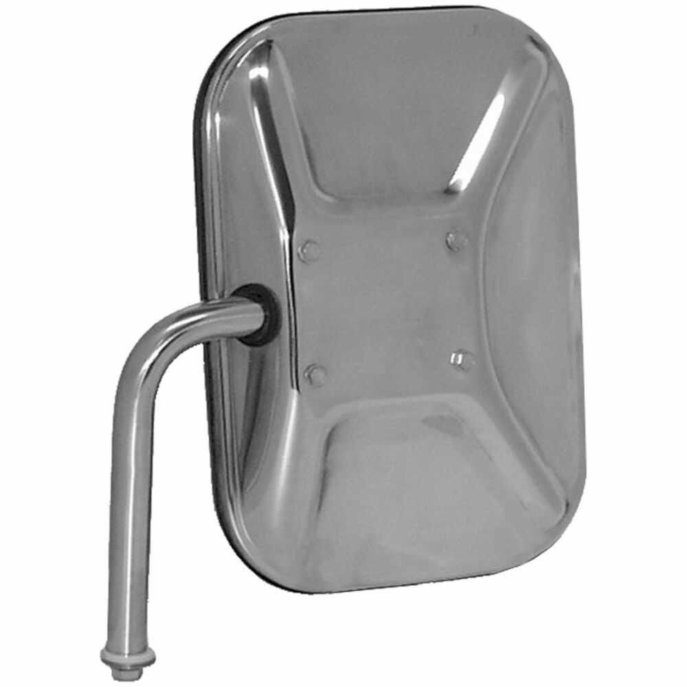 1975-1991 Ford Econoline Low Mount Swing-Away Mirror Head - Stainless Steel