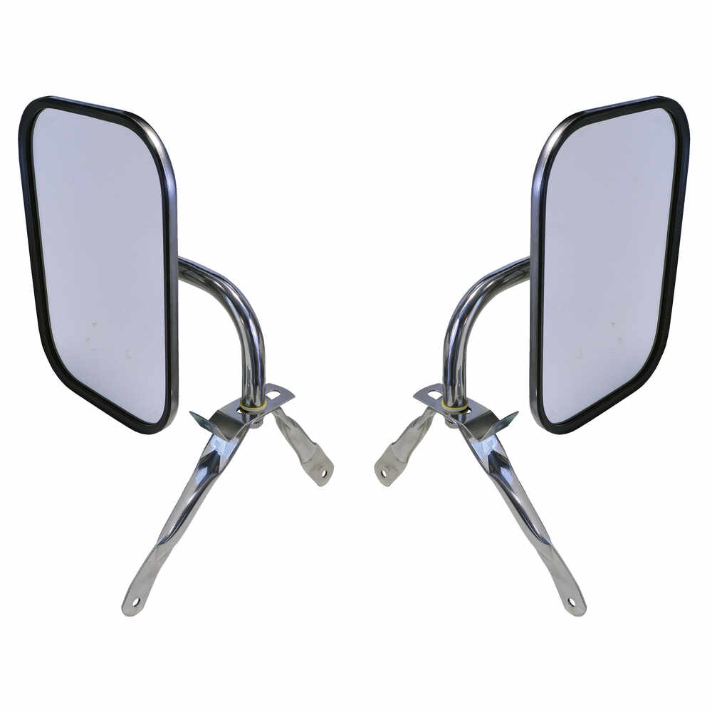 1975-1991 Ford Econoline Universal Below Eye Level Mirror Assembly, Stainless Steel PAIR