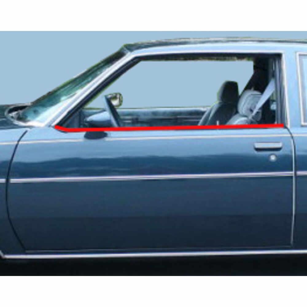1984-1987 Buick Grand National Inner & Outer Window Belt Felt Sweep Kit, 2Dr