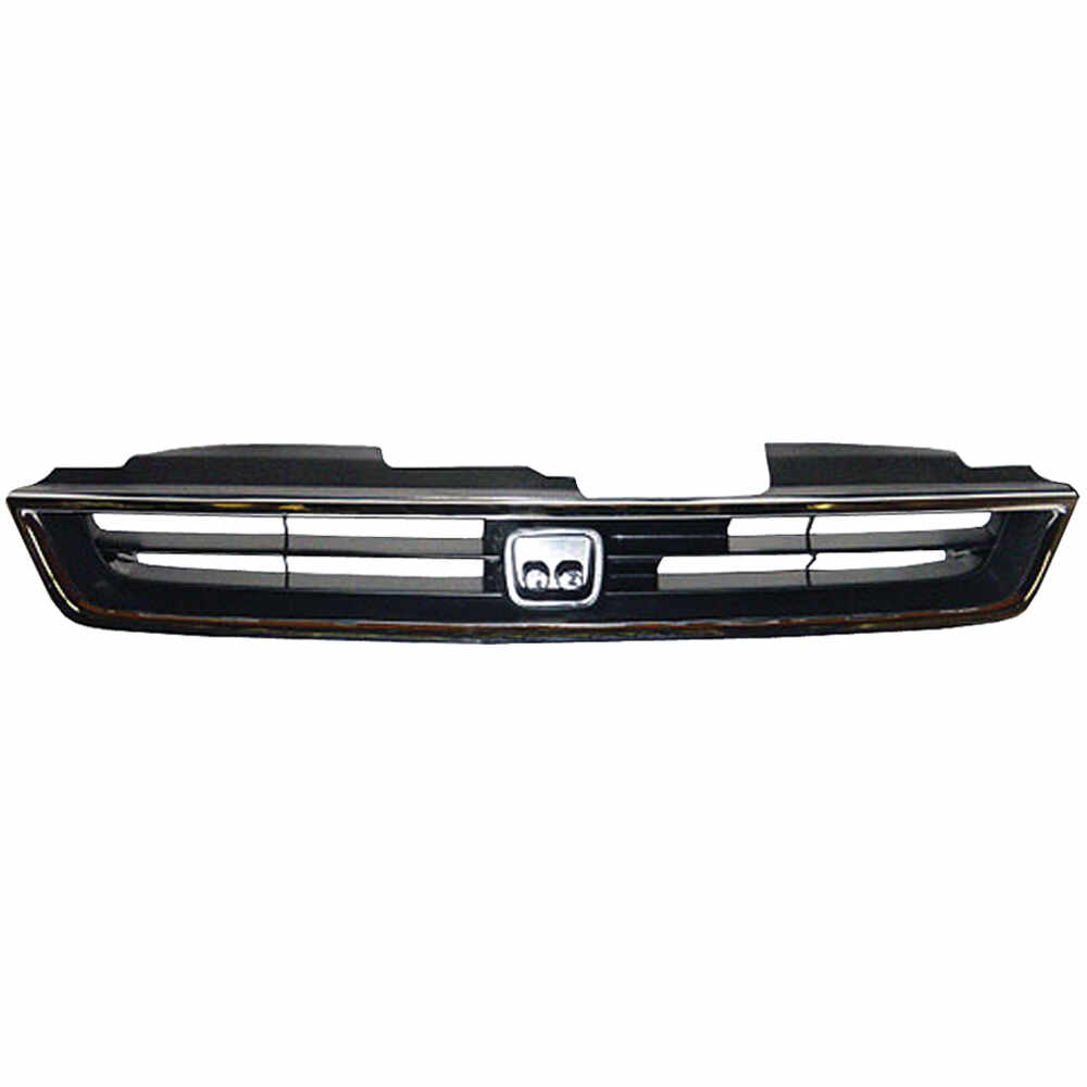 1994-1997 Honda Accord 4 Cylinder Mat Black Grille with Molding