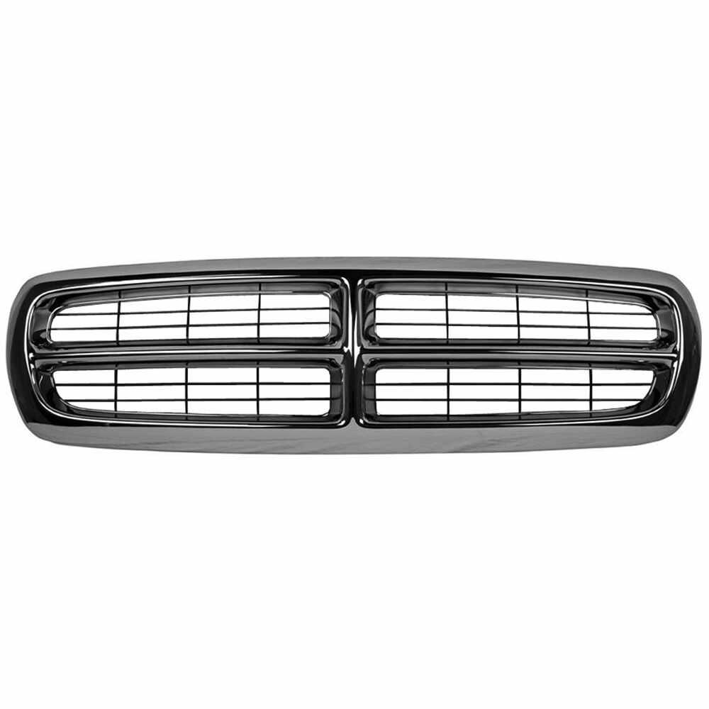 1997-2004 Dodge Dakota Grille Chrome / Black