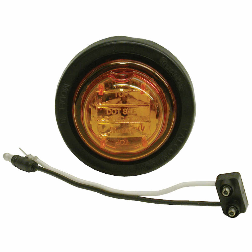 """2"""" Round Yellow LED Marker Light -8 LED's - Truck-Lite"""