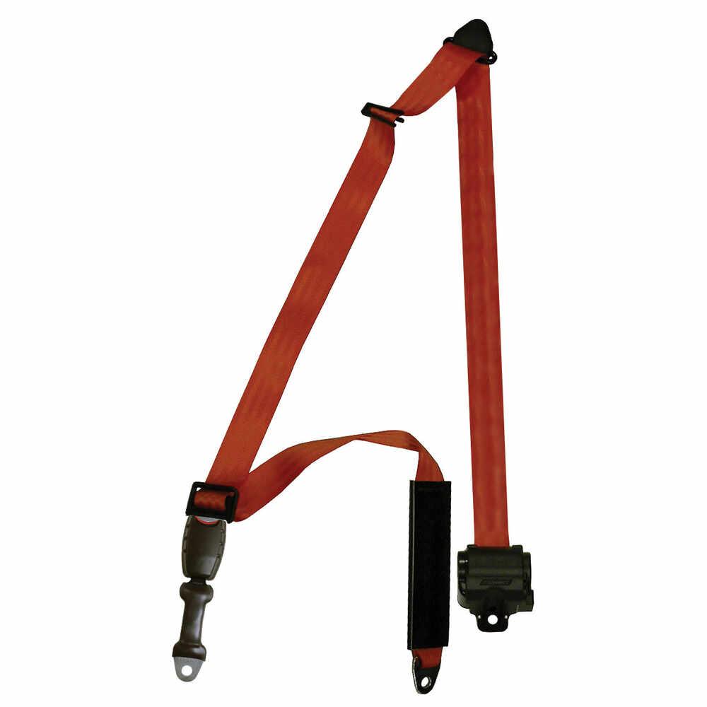 "3-point Orange Seat Belt - Mounts to seat posts or bulkhead - 154"""