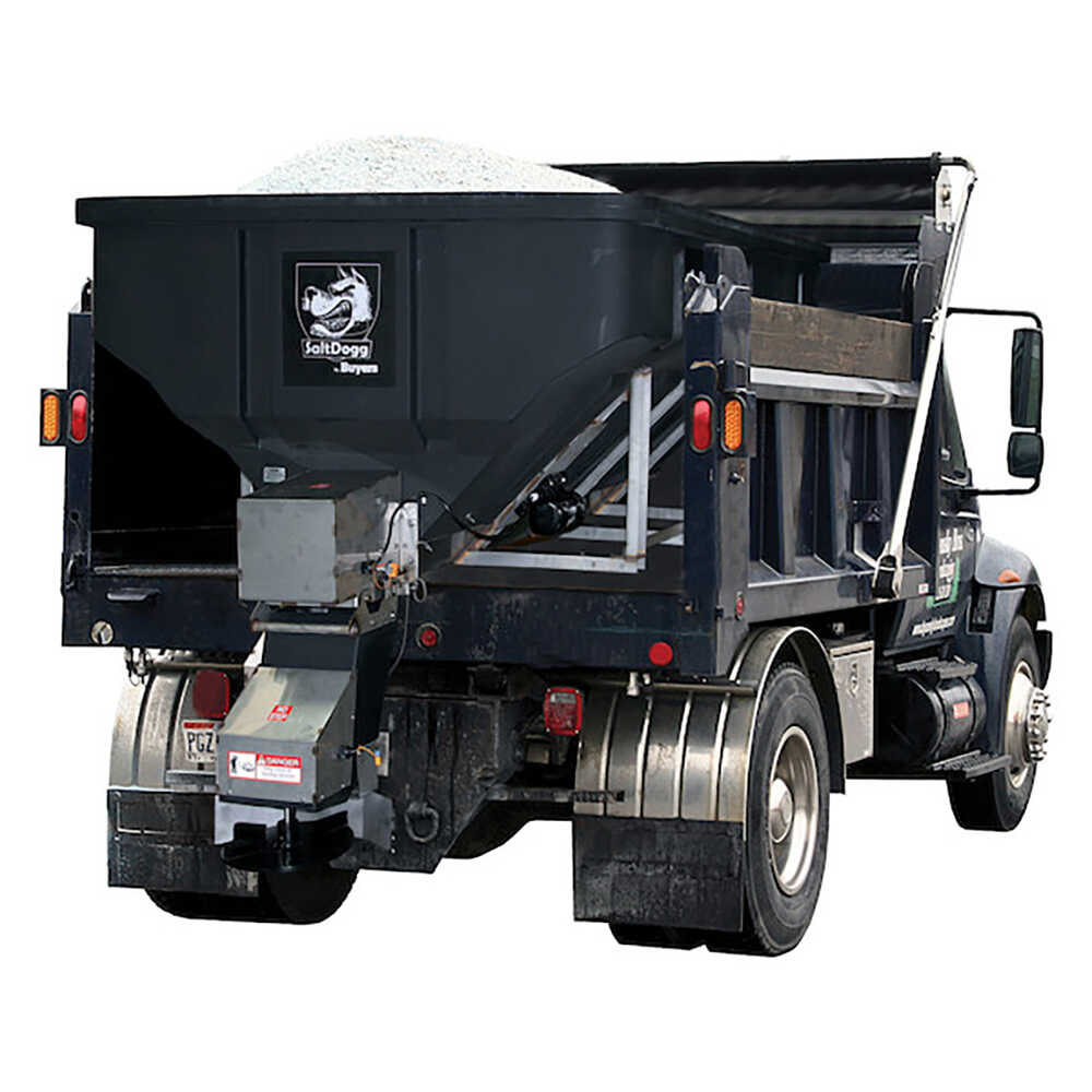 4 Cubic Yard Poly Hopper with Stainless Steel Frame and Trough - Conveyor Feed