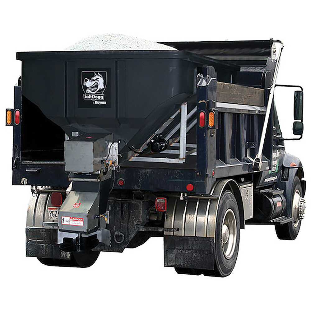 4.0 Cubic Yard Electric Poly Hopper Spreader - Auger Feed