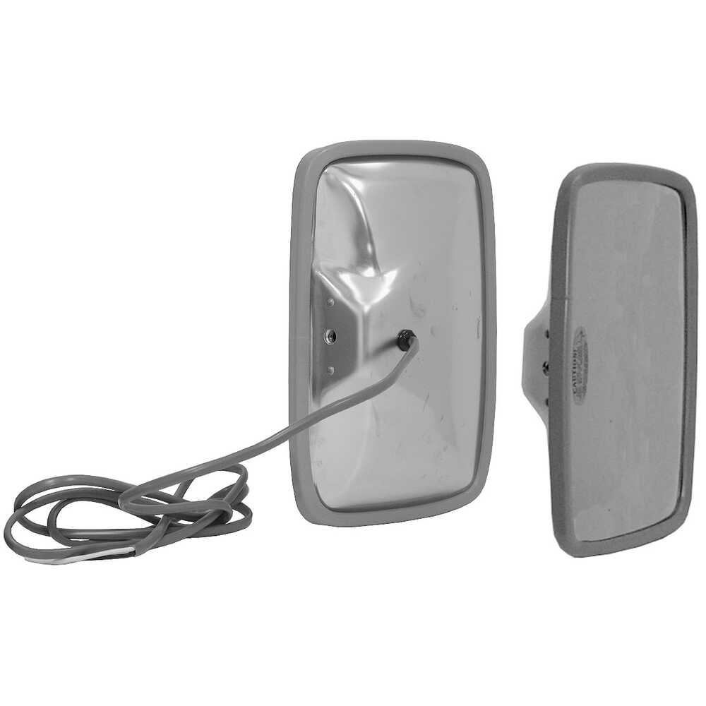 """6.5"""" x 10"""" Heated Stainless Steel Mirror Head with wire harness - Velvac 704325"""