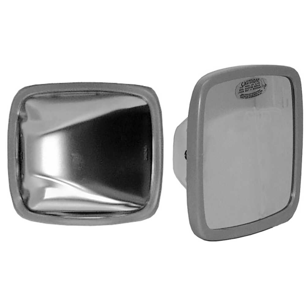 """6.5"""" X 6"""" Stainless Steel Mirror Head with Flat Glass - Velvac 704093-5"""