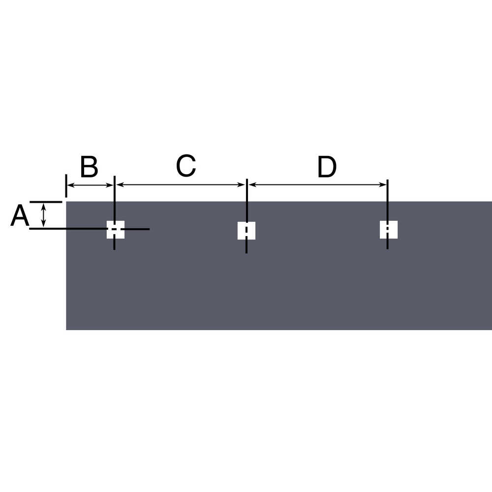 """7-1/2' x 3/8"""" thick, Cutting Edge Blade, with 8 mounting bolts, 1/2"""" bolt. for Fisher Snow Plow"""