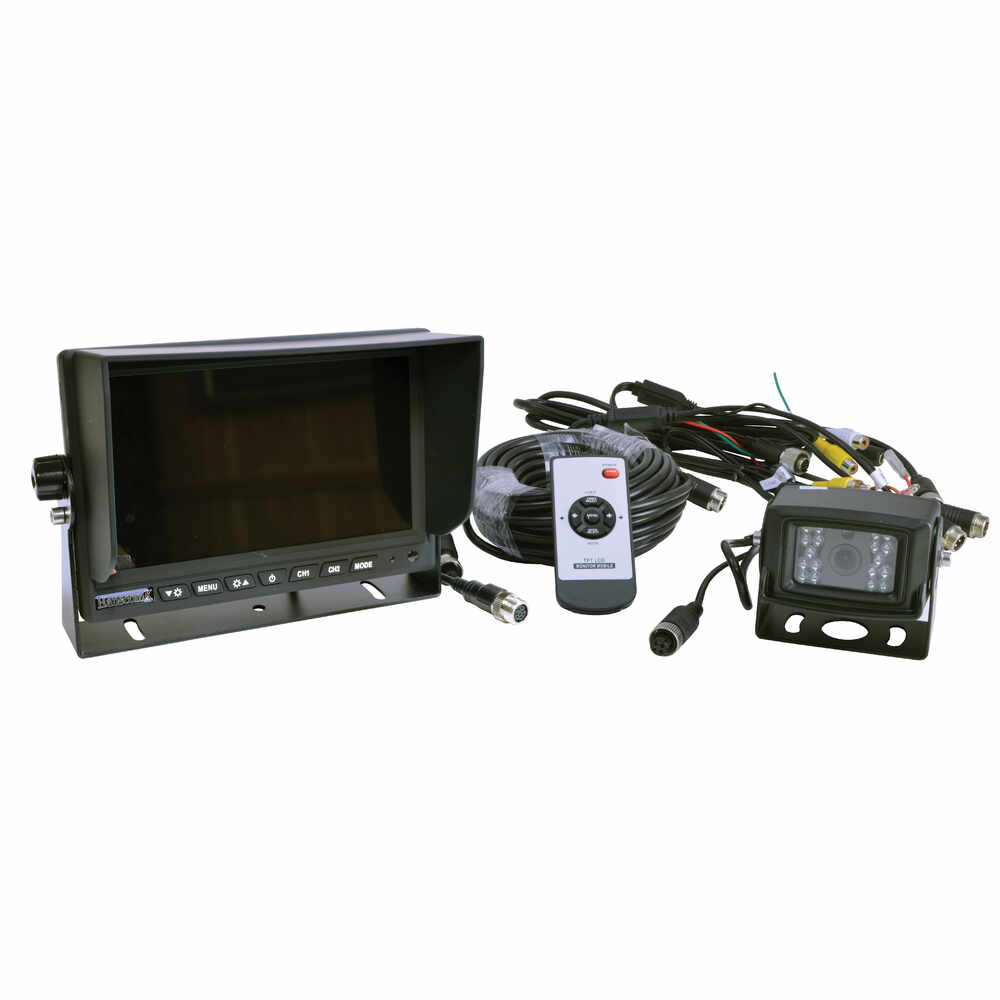 7-Inch Color LCD Wired Camera System with Remote