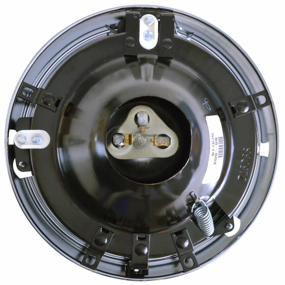 """7"""" Round Headlight with Chrome Door and Metal Housing"""