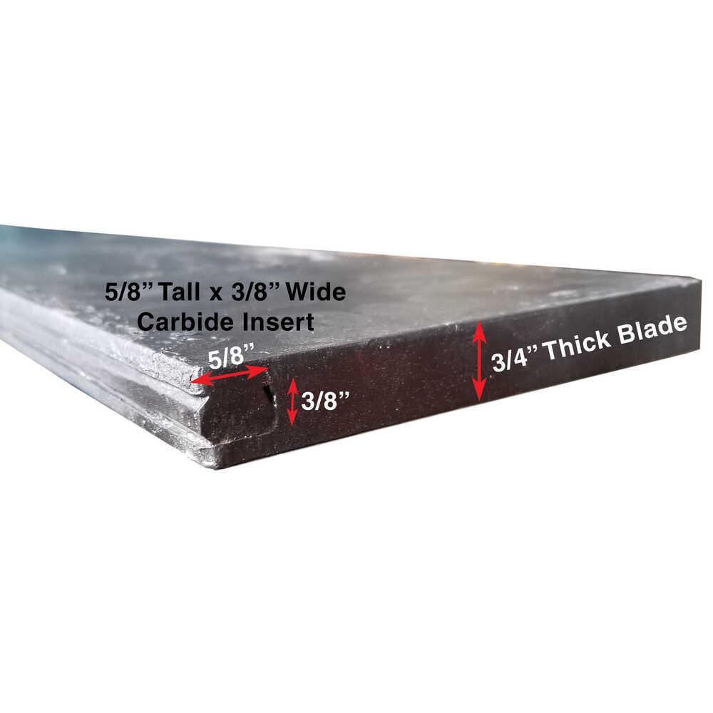 "7.5' Carbide Steel 2 Piece Cutting Edge Blade Kit - 90""L x 3/4""W x 6""H - Replaces Meyer 09796"