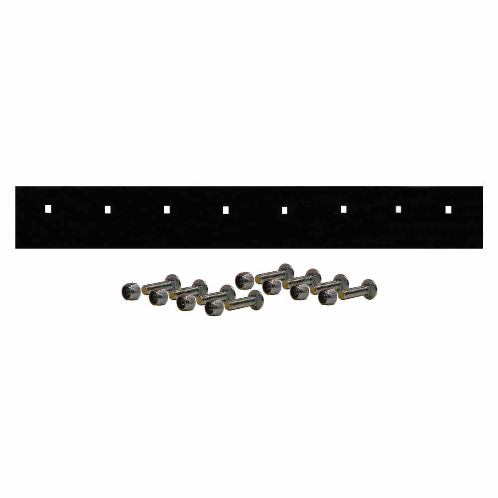 """7.5' Steel Cutting Edge 90""""L x 3/8""""W x 6""""H - Replaces Meyer 09796 with Bolt Kit"""