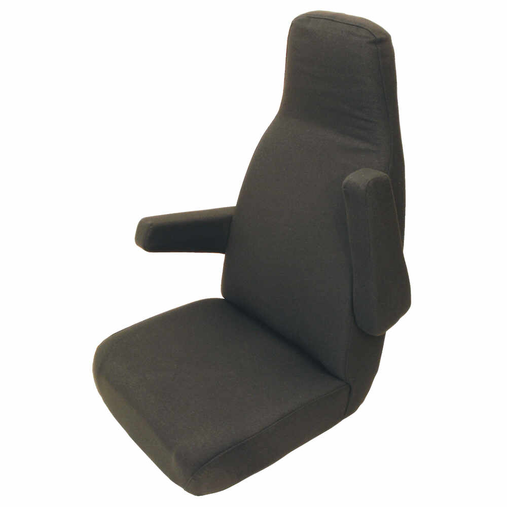All Black Cloth High Back Seat without lumbar support