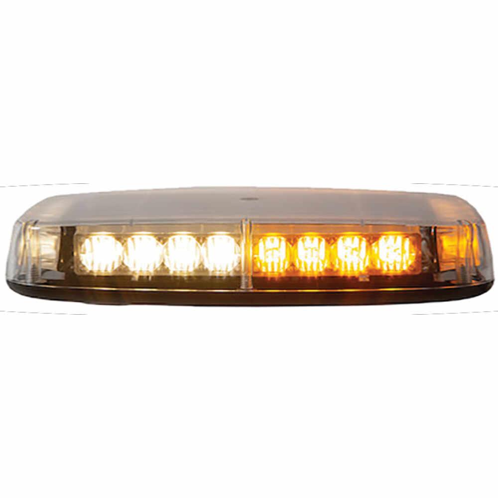 Amber & White Magnetic Mount LED Mini Light Bar