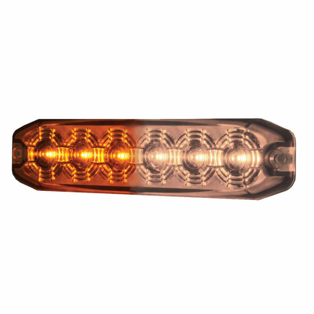 Amber & White Ultra Thin LED Strobe Light
