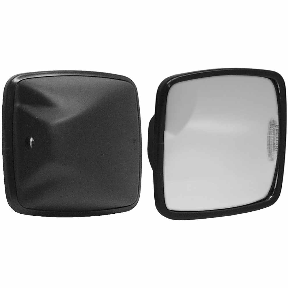 "Black Plastic Mirror Head with Convex Glass - 6.5"" x 6"" - Velvac 704153"