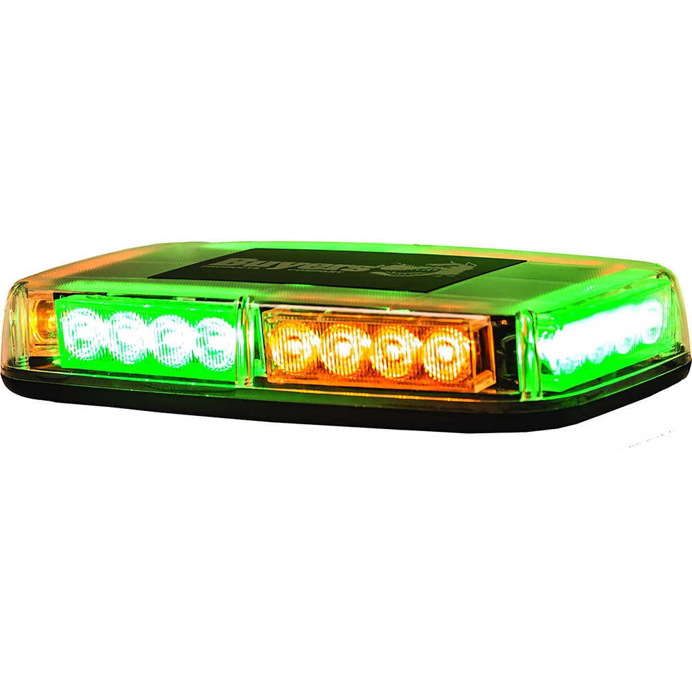 Green & Amber Magnetic Mount LED Mini Light Bar