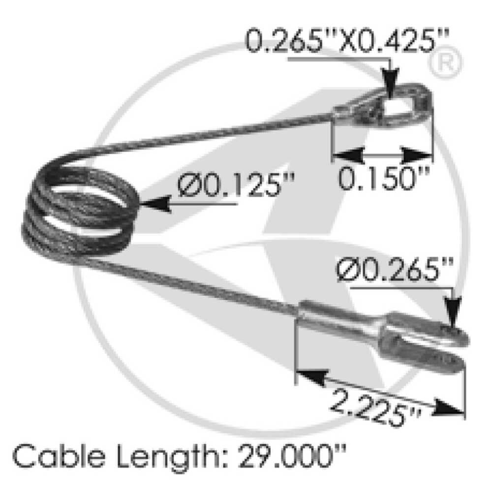"""Hood Cable, 29""""L, 4000 Series"""