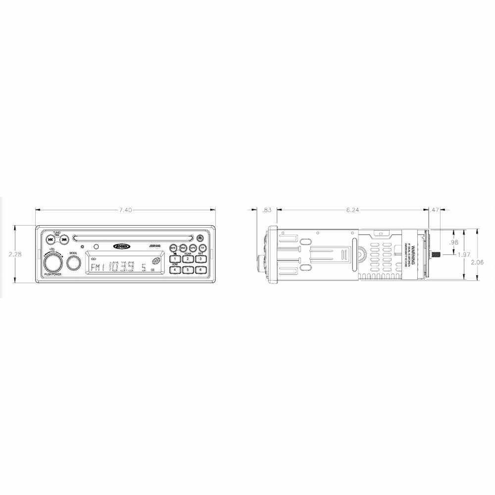 JENSEN Heavy Duty AM / FM / CD Stereo