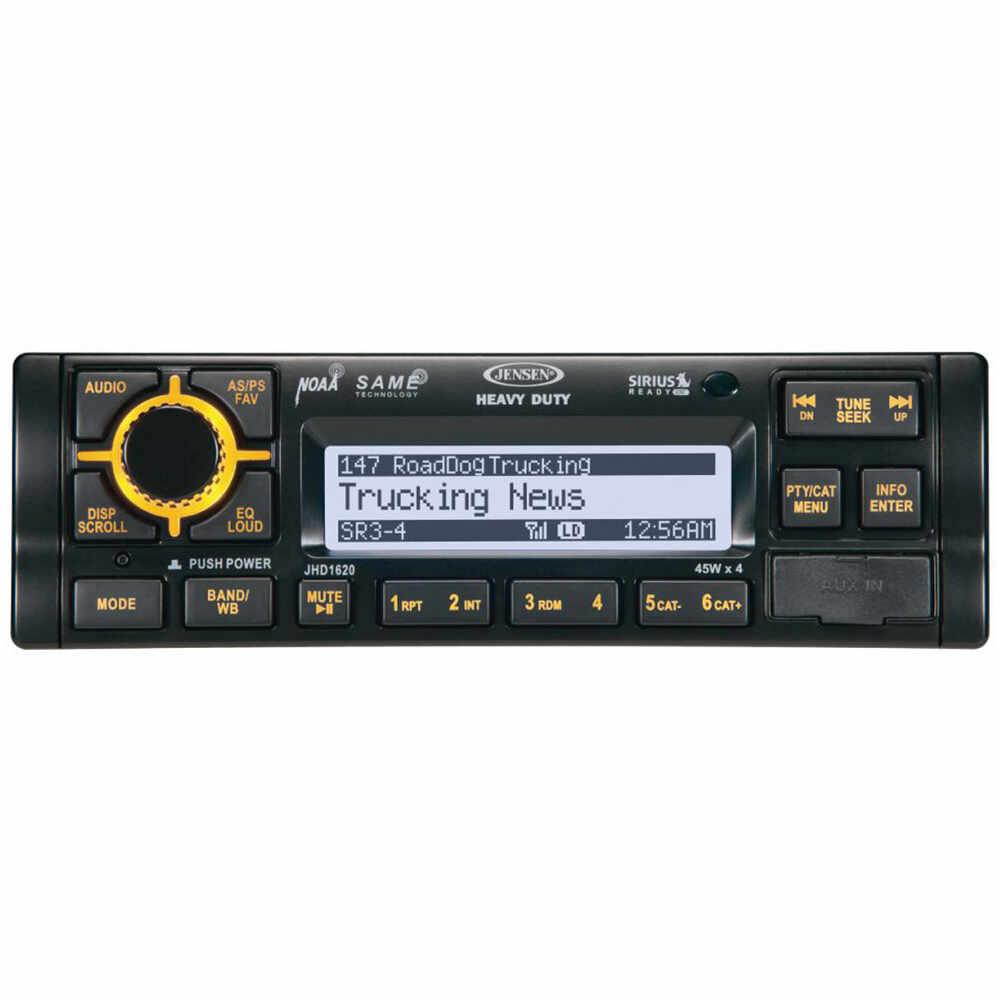 JENSEN JHD1630B Heavy Duty AM / FM / WB / I Pod / I Phone / SiriusXM Stereo