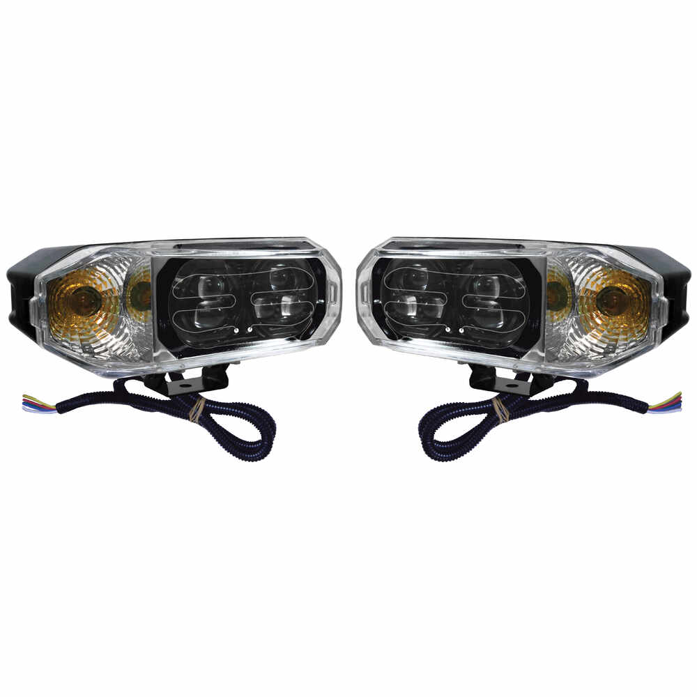LED Snow Plow Headlight Set