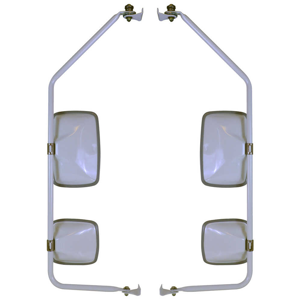 Mirror Assembly with Preset - White - Velvac