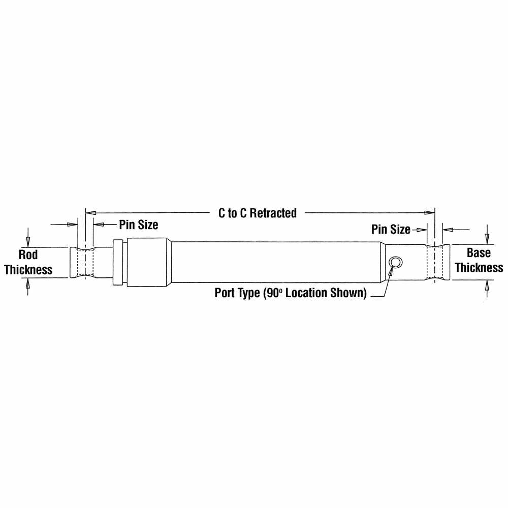 Power Lift Cylinder - Replaces Blizzard B60237