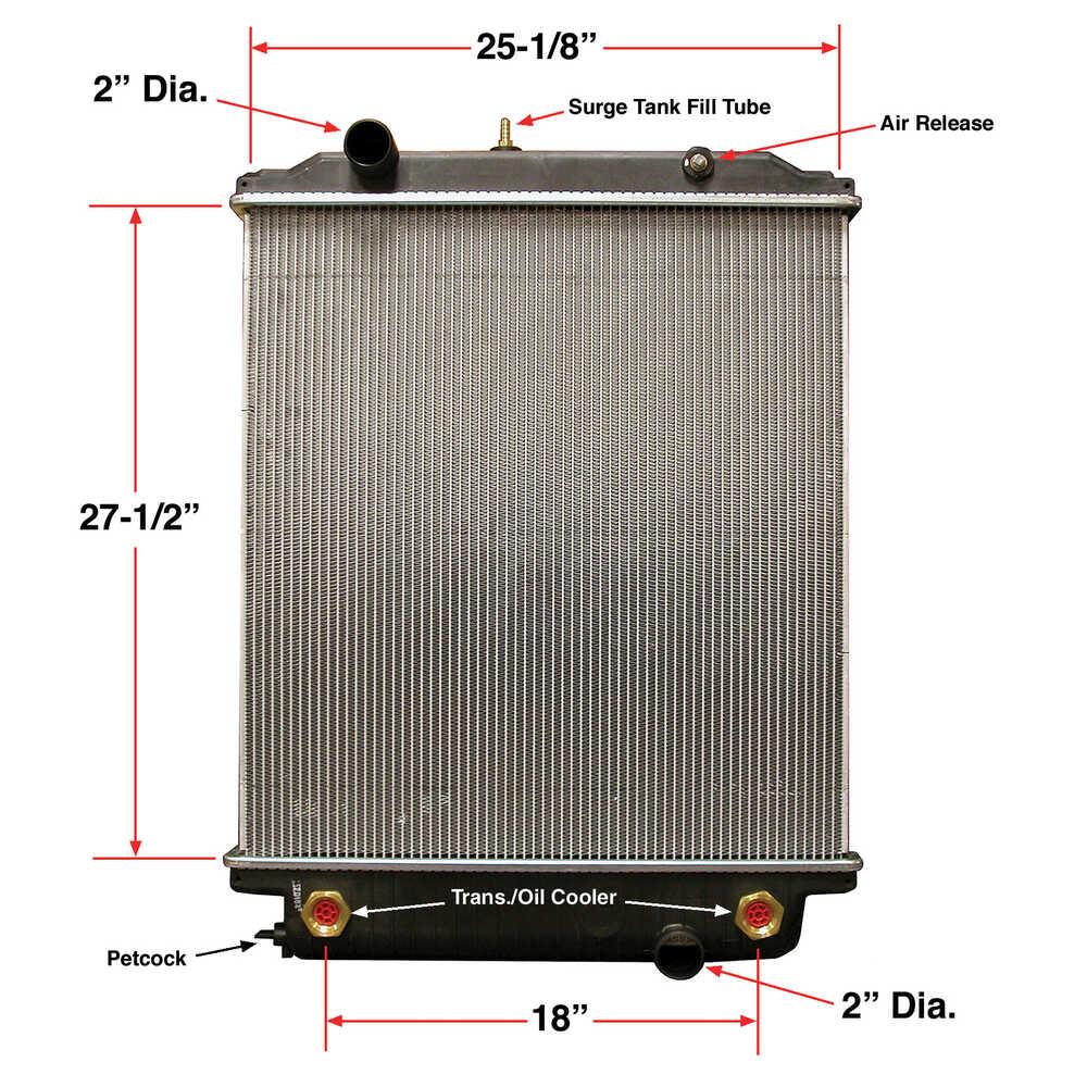 Radiator fits MT45 & MT55 Freightliner