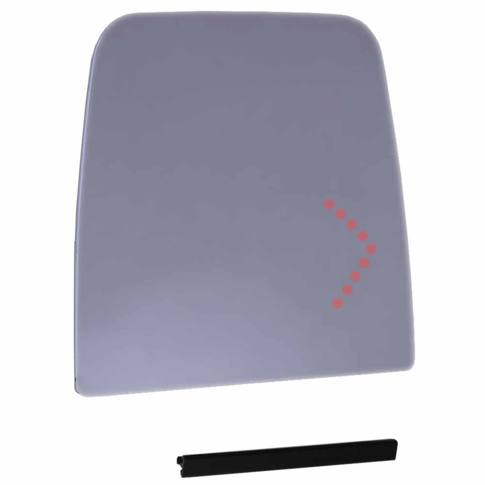 Right Heated Flat Glass with Signal Arrow for Deluxe Mirror Head - Velvac 709674