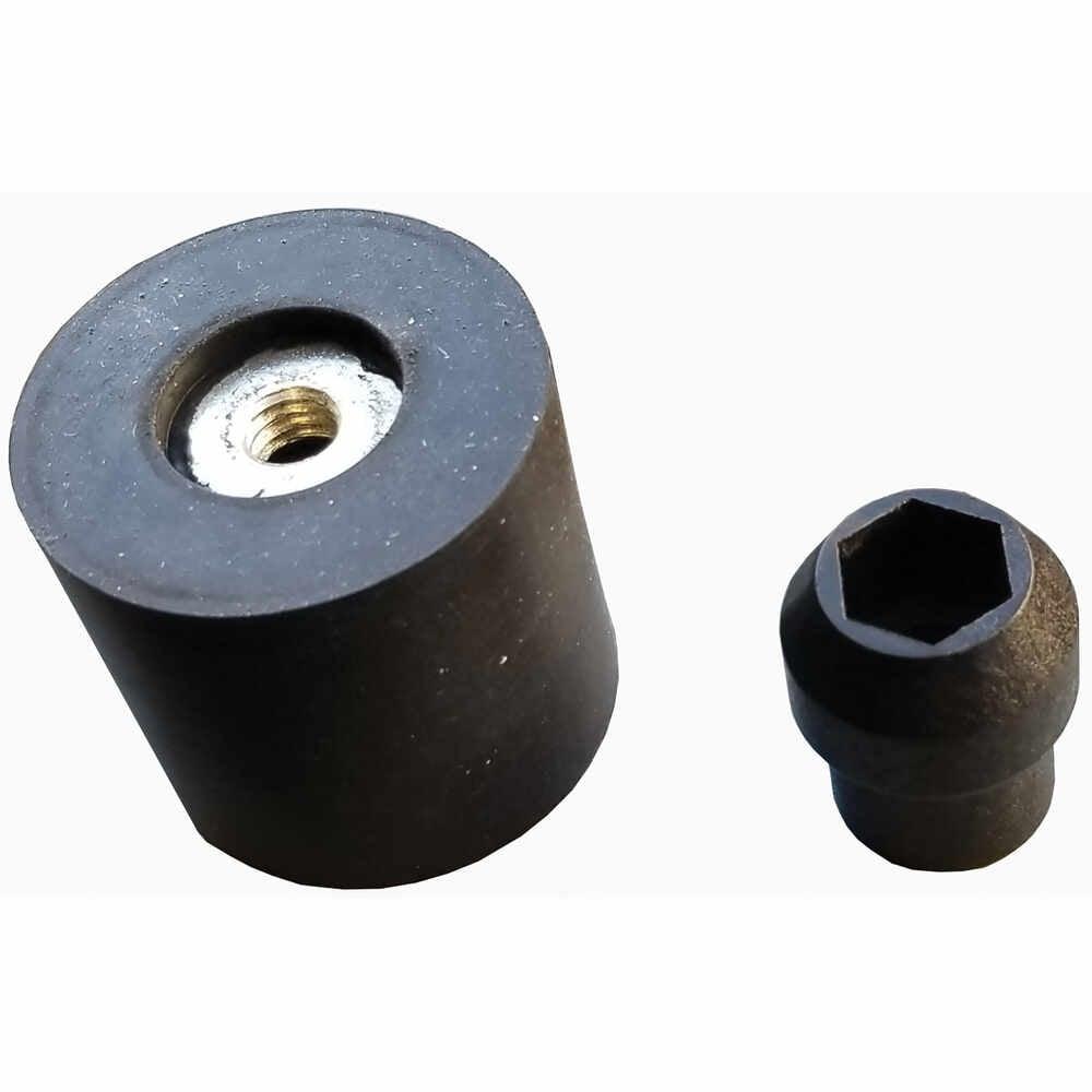 Rubber Socket Door Holder with Round Base Plunger