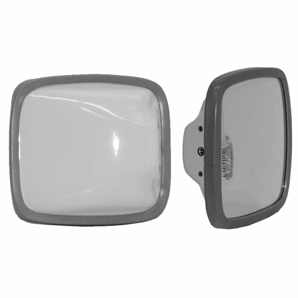 "Velvac - 704077 White Steel Mirror Head with Convex Glass, 6.5"" x 6"""