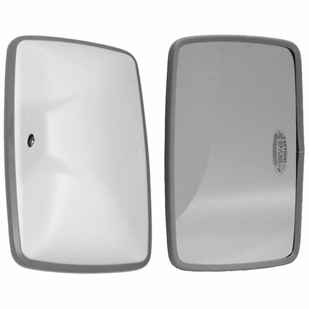 "White Plastic Mirror Head with Flat Glass - 6.5"" x 10"" - Velvac 704132"