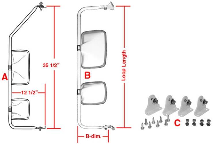 Mirror Systems - Dual Head Velvac