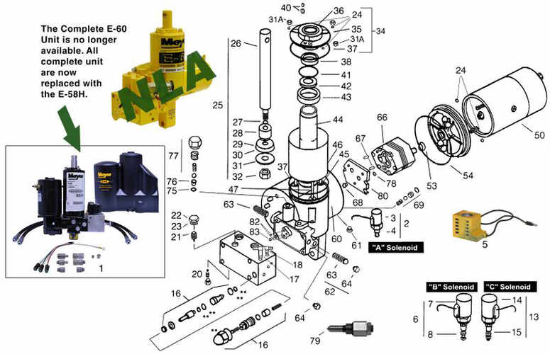 Diamond E-60H Pump Parts