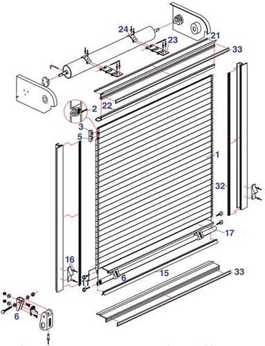 Dover Roll-Up Door Parts Stepvan