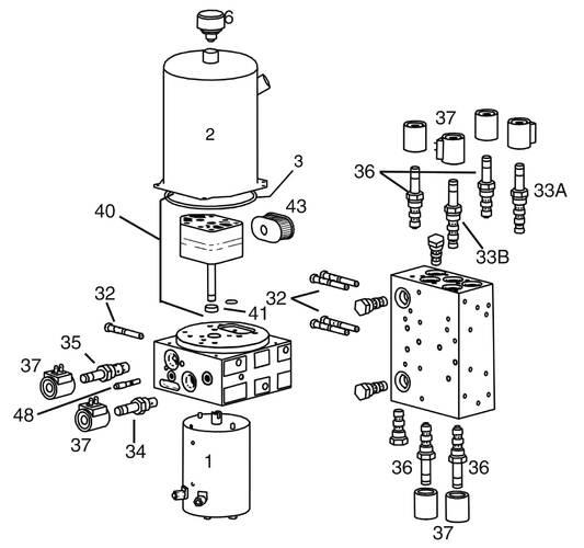 Western UltraMount Wide-Out Hydraulic Unit